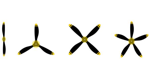 Prop cover - prop blades